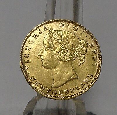 RARE 1880  Newfoundland  $ 2.00 gold   low price damage