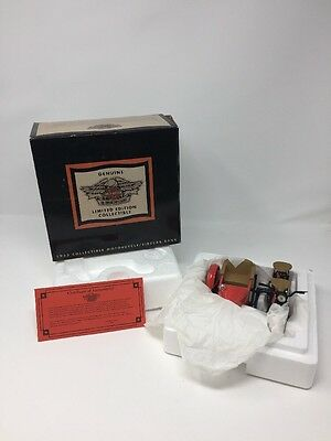 Harley Davidson 1933 1/12 scale model motorcycle and sidecar coin bank