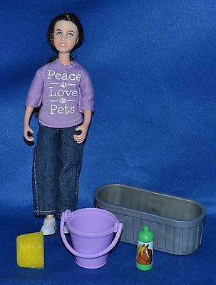 Breyer~Classic Pet Groomer~Girl Doll & Accessories~LOOK!