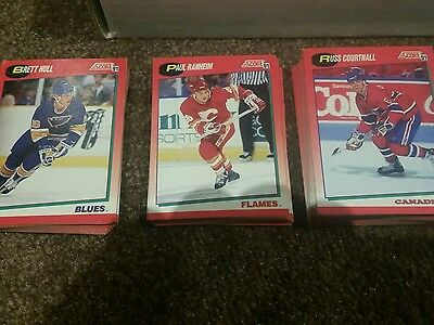 1991- 92 score canadian series 1-2 ice hockey trading  cards complete set of 660