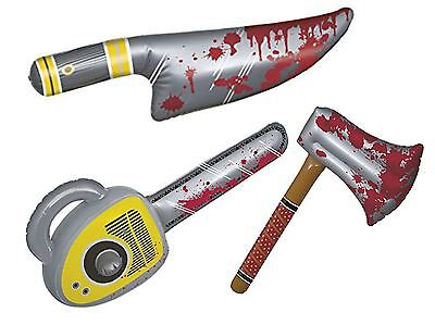 Halloween Inflatable Props Horror Bloody Weapons Decoration Party Knife Axe