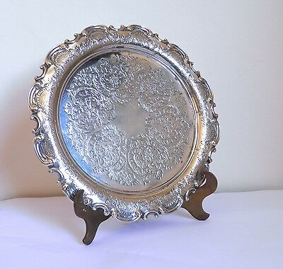 Victorian Silver Plated Salver or Tray Roberts & Belk Sheffield Benefink London