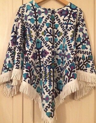 Poncho .Vintage . Height 50inches. Age 8-9 Approx.