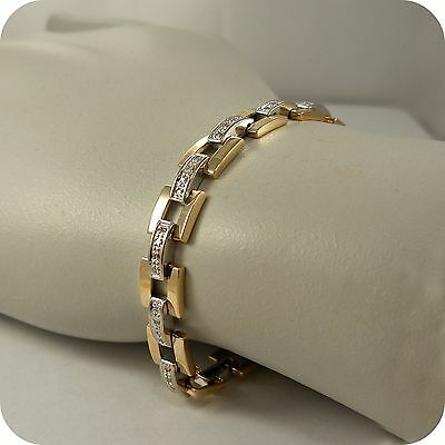 0.33 carat Diamond set Bracelet in 9 carat Gold
