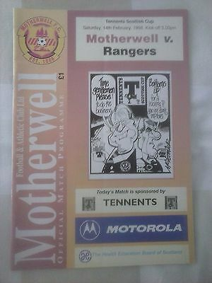 Motherwell v Rangers Scottish Cup 1998