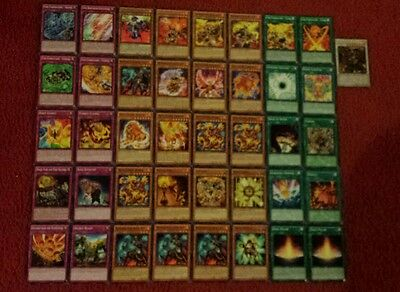 Yu-Gi-Oh Fire Fist and Hazy Flame Deck - 40 cards complete BONUS 5 cards