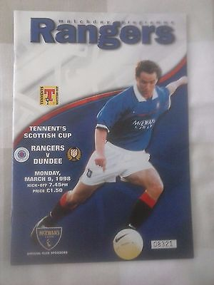 Rangers v Dundee Scottish Cup 1998