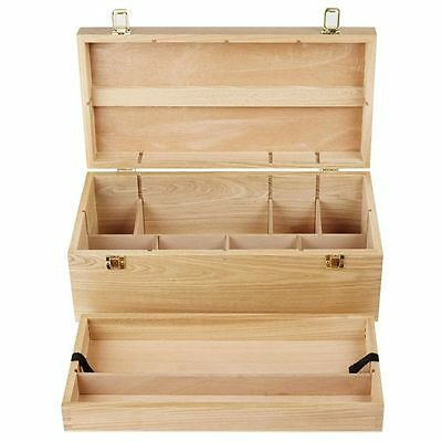 J.Burrows Artist Supply Chest Hardwood with removable tray for painting storage