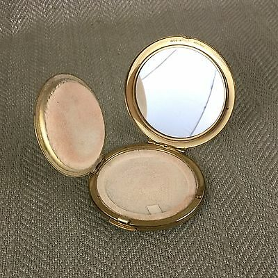 Vintage Gold Tone Mirror & Filter Powder Compact by Stratton