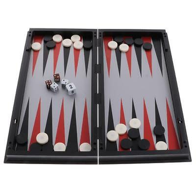 3 In 1 Double-faced Chess Game Checkers Backgammon Board Game Kit Party Fun