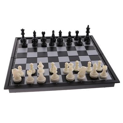 Durable 3 In 1 Magnetic Board Chess & Checkers & Backgammon Travel Game DIY