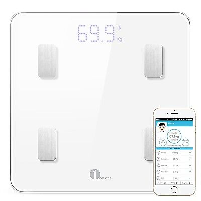 1byone Digital Smart Wireless Body Fat Scale with IOS and Android App to Mana...