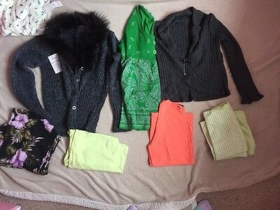 bundle of ladies clothes mixed sizes carboot job lot top skirt bra new