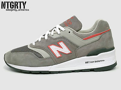 the latest 7b4bf a7f58 NEW BALANCE 997 Age Of Exploration Grey Suede Leather Orange Made In Usa  M997Cht