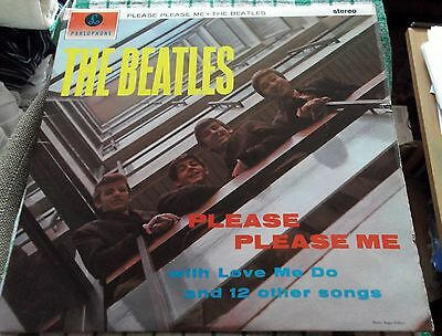 The Beatles Please Please Me Parlophone Small Stereo EX