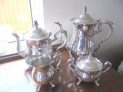 Vintage 4 Piece Silver Plated Tea Service