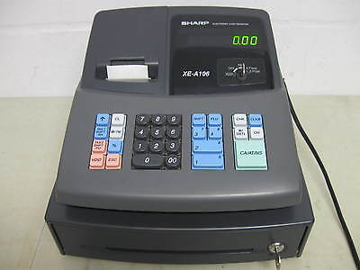 Sharp XE-A106 Electronic Cash Register Working Clean