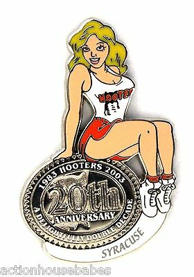 HOOTERS RESTAURANT 20th ANNIVERSARY GIRL SYRACUSE  LAPEL BADGE PIN