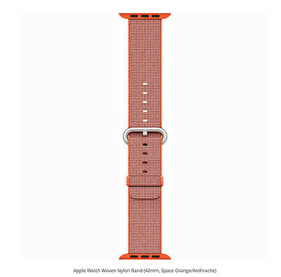 Genuine Apple Woven Nylon Band for Apple Watch 42mm (Space Orange/Anthracite) VG