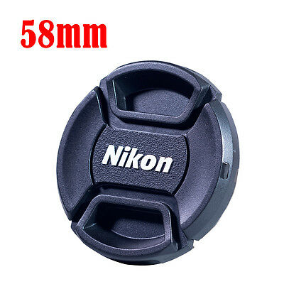 58mm Center-Pinch Snap-on Front Lens Cap Cover for Nikon DSLR Camera Lens