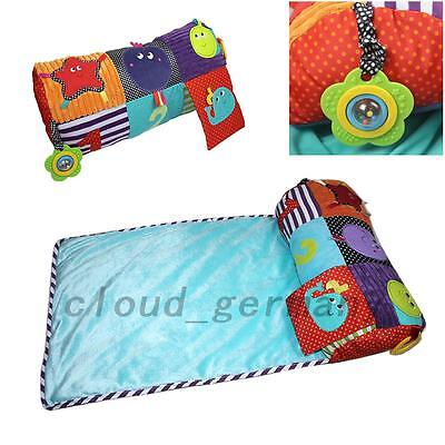 Multifunctional Infant Baby Climbing Play Mat Plush Pillow Foldable Breathable