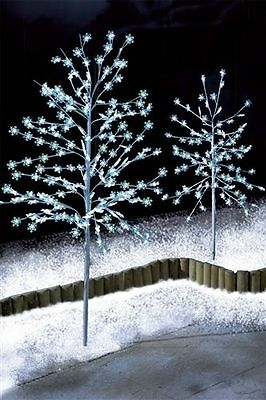 5ft White Snowflake Blossom Christmas Tree LED Lights Outdoor Garden Decoration