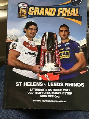 Super League Grand Final Official Souvenir Programme 2011