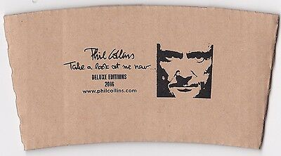NEW Phil Collins Promo Coffee Cup Sleeve - Take a look at me now Deluxe Editions