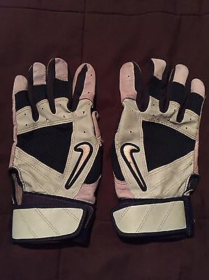 Very Nice High End Leather Nike Batting Gloves Large $50 Retail!