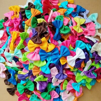 100pcs Ribbon Bow Kids Hair Alligator Clips Baby Girls accessories Wholesale