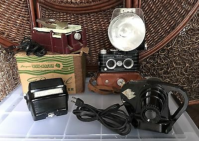 View-Master camera film cutter slide viewer projector flash bulb Vintage