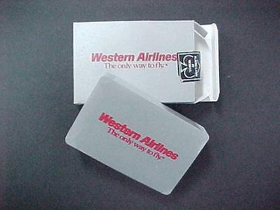 Vintage 1970's Deck of Playing Cards WESTERN AIRLINES  / STILL SEALED