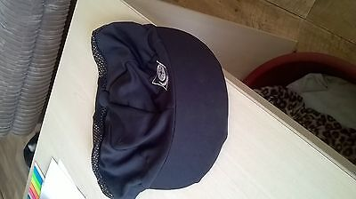 Charles Owen Vented Hat Cover Black Size M