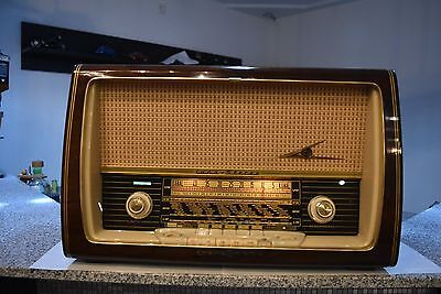 Loewe Opta Luna Stereo Röhrenradio German Tube Radio excellent working condition