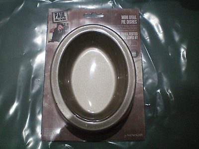 KITCHENCRAFT PAUL HOLLYWOOD Set 2 Non-Stick Oval Mini Pie Dishes 13.5cm/5.5inch