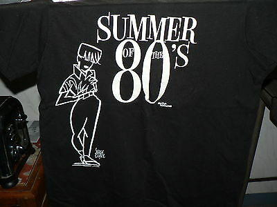 T SHIRT COLLECTOR  SERGE CLERC summer of the 80's  ARTE impression fluo