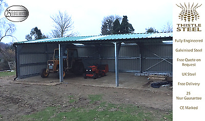 Thistle Steel New Small Open Sided Agricultural Storage Building