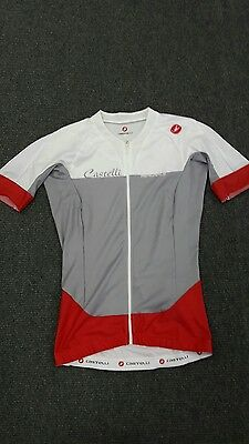 ladies castelli aerorace cycling jersey top small