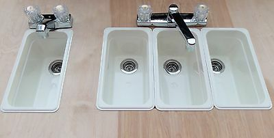 Sm White Concession Stand Sinks/ Sinks For (3) Compartment+ Hand Wash