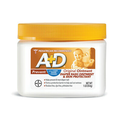 A+D Original Ointment Diaper Rash Ointment & Skin Protectant 1 Pound (Pack Of 6)
