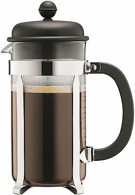 NEW DURABLE Black Cafetierra Coffee Maker Press Filter 1 Litre Cafetiere 8 Cup