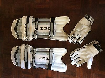 cricked pads and gloves