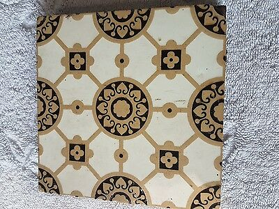 "Minton & co floor tile 6""x 6"" vintage victorian tile I have 5 different 4 sale"