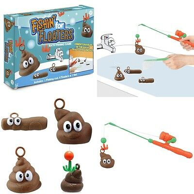 Fishing for Floaters Bath Game Bathtime Hooj A Poo Turd Poop Fun Novelty Gift