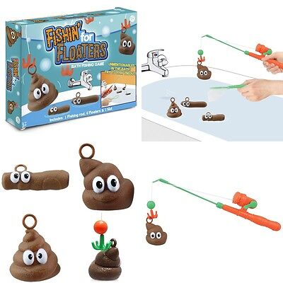 Fishing for Floaters Bath Game Bathtime Hook A Poo Turd Poop Fun Novelty Gift