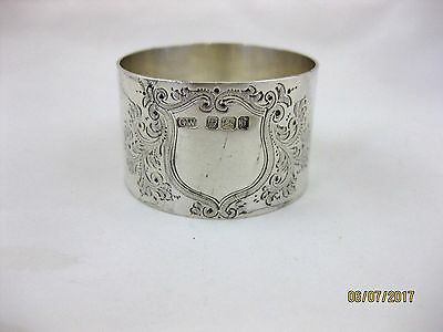 Antique Solid Silver LARGE NAPKIN RING  Hallmarked  SHEFFIELD 1900
