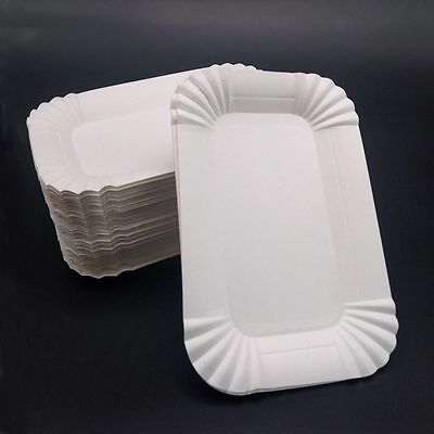 Tableware Dish Disposable Rectangular  Shaped Party Paper Plates Wedding