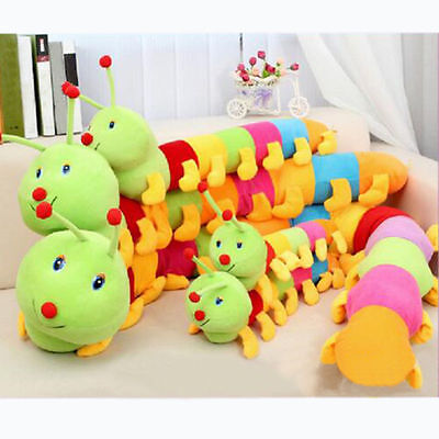 Lovely  Kids Colorful Inchworm Soft Toys for Caterpillar hold pillow Toys