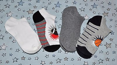 4 pairs of new boys socks cotton blend Child size 9 - 12