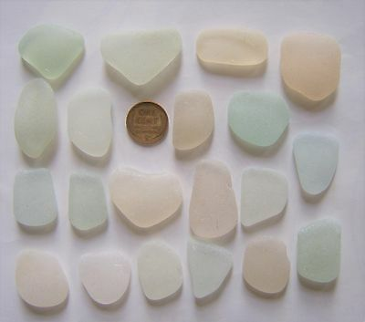 SCOTTISH SEA GLASS BEACH FINDS 20 medium various shaped GLASS PCS